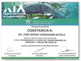 Participation as a Coordinator in the course of trans-congress of Obesity for the XIX International Endoscopic Surgery Congress. (May 2010)