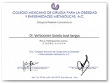 Participation as a Coordinator in the XII National Congress of Obesity & Metabolic Surgery. (July 2010)