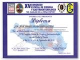 "Diploma for participation in ""Gastric Band vs. Gastric Bypass at the XV State Congress of Surgery & Gastroenterologist. (Sep 2010)"