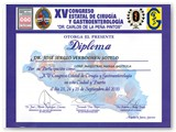 Diploma for the participation on the Gastric Sleeve at the XV State Congress of Surgery & Gastroenterologist. (Sep 2010)