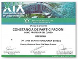 Participation as a Professor for the Obesity Course at the Mexican Association of Endoscopic Surgery. (May 2010)