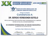 "Certificate of Participation as a Coordinator for the XX International Endoscopic Surgery Congress ""Actual Status of Bariatric Surgery"" (May 2011)"