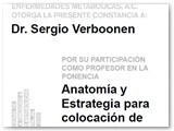 Certificate of Participation as a Professor in Anatomy and strategies on Gastric Sleeve placement.